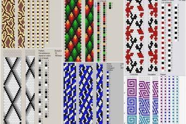 Схемы вязания жгутов из бисера