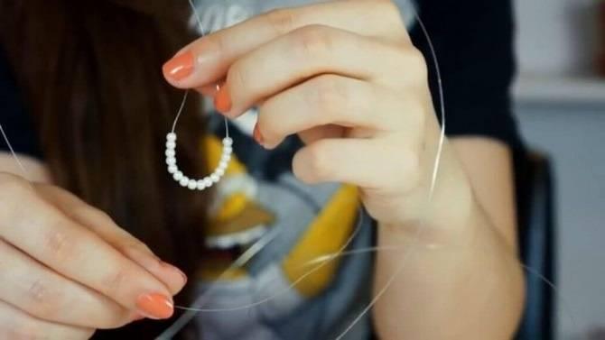Фото Начинаем плетение тики на голову
