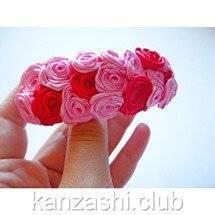 11-zakolka-iz-roz-kanzashi